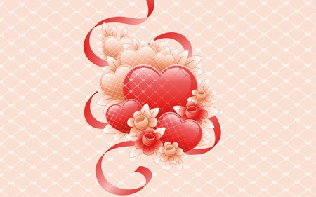 hearts - abstract, heart, valentines day, love