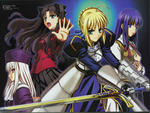 fate stay night girls