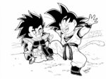 Chibi Goku and Raditz