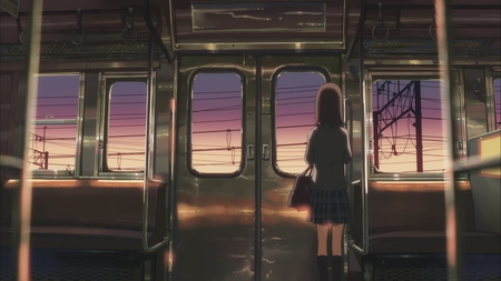Goodbye Memories - 5 centimeters per second, train, girl, anime, beautiful, byousoku 5 centimeters