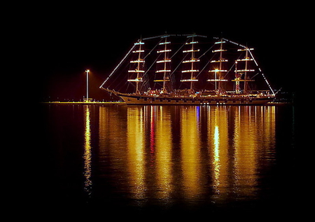 Love boat - beautiful, night, sailboat, amazing