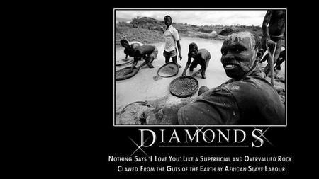 AFRICA BLOOD DIAMONDS - war, warchild, bling, diamonds, mobile phones, africa, blood, slavery, cell phones