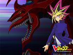 Yami Yugi and Slifer