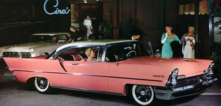 1957-Lincoln - beautiful, lincoln, pink, car
