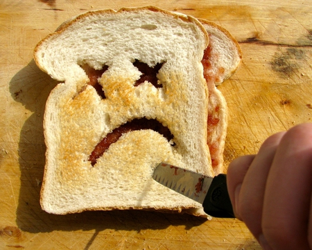 Toasticide... - unusual, photography, toast, morbid, death, abstract, dark, funny, foods, toasticide, cute, humor, sad, comedy