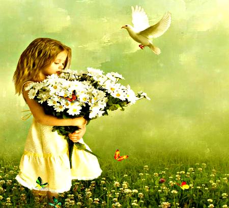 little girl butterfly wallpapers - photo #47