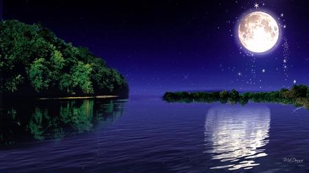 Moonlight Reflection - Sky & Nature Background Wallpapers on Desktop Nexus  (Image 817117)