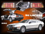 DeLorean Photo Collage
