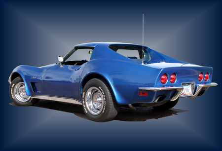 Corvete Stingray - stingray, corvette, blue, 1973, chevrolet