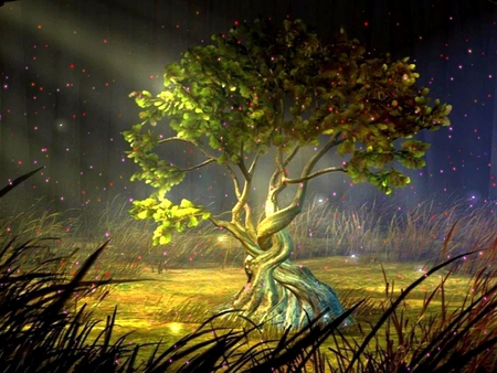 Mystic tree fantasy abstract background wallpapers on - Mystical background pictures ...