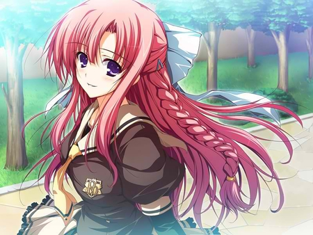 anime pink hair girl (CUTIE) - hair, pink, girl, anime