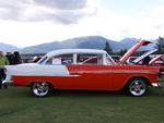 Chevrolet 1955 belair in Radium Hot Springs car show 80