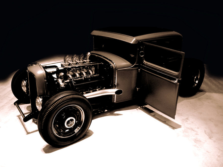 1932 FORD HOT ROD - hot rod, 1932, car, black, ford