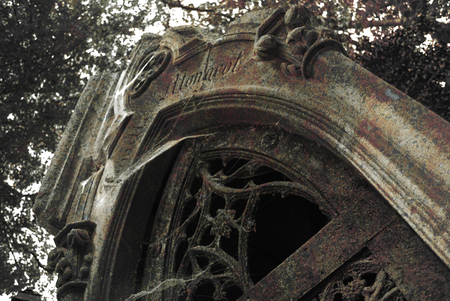 Mausoleum in Pere Lachaise Cemetery - death, gravestone, halloween, paris, cemetary, tombstone, graves, spooky, france, gothic, graveyard, mausoleum