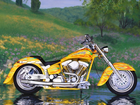 Custom Twin - motorcycle, bike, chrome, softail, twin, paine, custom