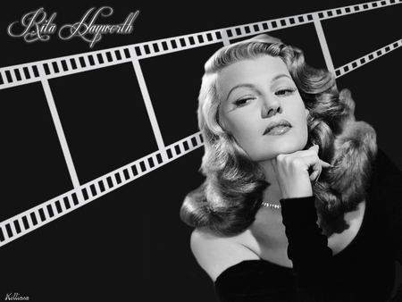 Rita Hayworth - female, movie, 40s, rita hayworth, film, black and white, women, fortys, golden era, 50s, goddesses of the silver screen, beauty, fifties, actresses