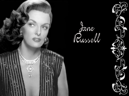 Jane Russell - female, movie, 40s, jane russell, film, black and white, women, fortys, golden era, 50s, goddesses of the silver screen, beauty, fifties, actresses
