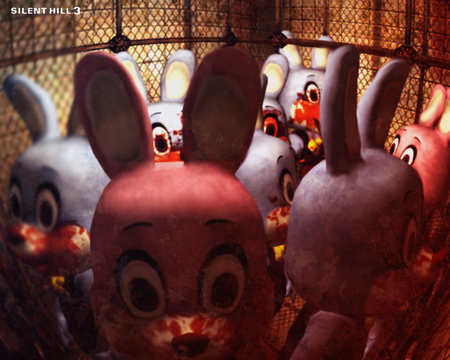 Bunny Parade - rabbit, silent hill, video game, horror, robbie