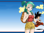 Dragon Ball kid Goku and Bulma