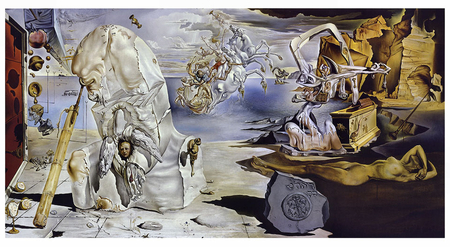 The Apotheosis of Homer 2 - art, collage, surrealism, surrealist, dali, wide screen, abstract, salvador dali, surreal, artwork, painting