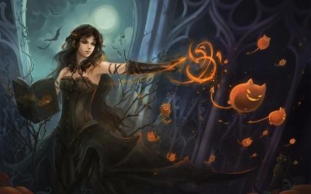 Sending the Minions - fantasy, magic, art, halloween