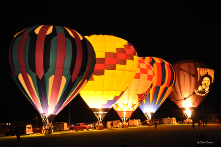 Night Glow 2011 - hot air balloons at night, hot air balloons, hot air balloons night glow, balloons