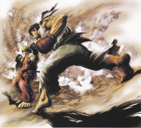 Ken Vs Ryu Street Fighter Video Games Background Wallpapers On