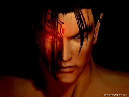 Jin Kazama - games, jin, male, jin kazama, kazama jin, video game, game, video games, brown eyes, tekken, dark, red eyes, devil jin