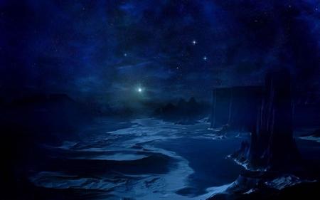 Night Sky Stars Wallpapers Blue Night Sky Stars Wallpaper