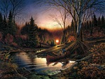 Terry Redlin. Morning Solitude