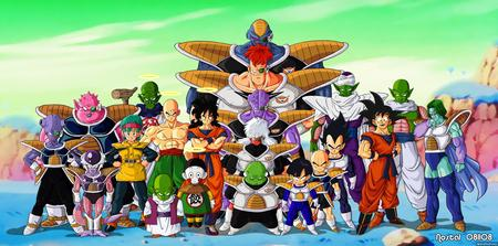 dragon ball on namek - gohan, krillin, picollo, vegeta, gineuforce, goku, bolma, cell