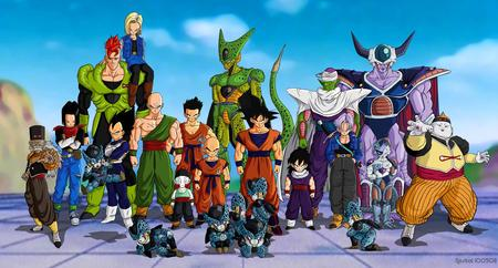 dragon ball z - etc, 16, picolo, 17, vegeta, 18, cell