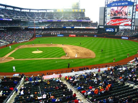 Citi Field - fans, newyork, mets, stadium, baseball, field, sports
