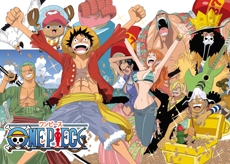 One Piece - robbin, zoro, nami, luffy, zolo, nico, chopper, one piece