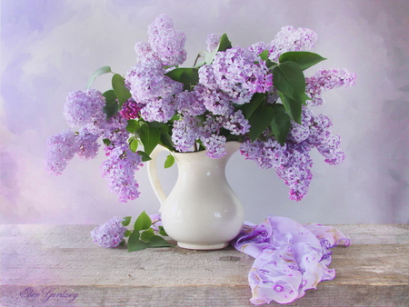 Lilac In Vase Other Abstract Background Wallpapers On Desktop