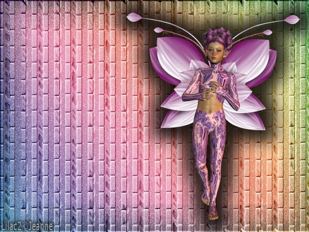 fairy - color, poser, fairy, abstract, 3d