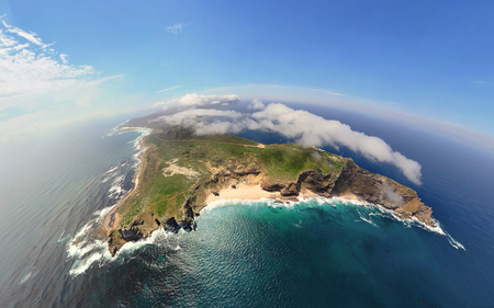 View from the top - amazing, view, ocean, beautiful, sky, panorama, nature, island, landscape