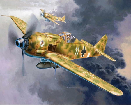 Focke Wulf - art, german, ww2, 190, wulf, focke, plane, wf, antique, luftwaffe, wwii, drawing, painting, wf190, classic