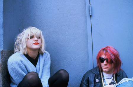 COURTNEY LOVE & KURT COBAIN - entertainment, usa, action, music