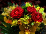Photoshop bouquet of flowers * Whising a great new week for you!!!!!!