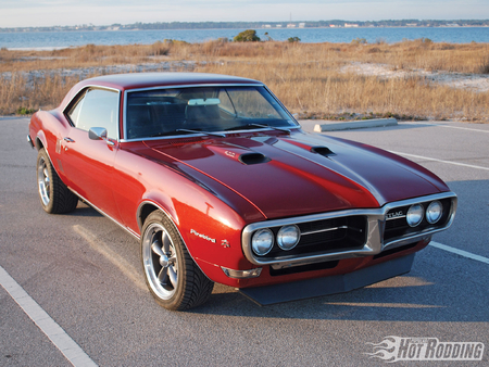 1968 Pontiac Firebird - red, firebird, 68, gm