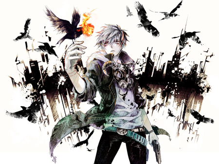 Night crow other anime background wallpapers on - Anime male wallpaper hd ...
