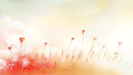 Hearts Blooming - flowers, valentines, hearts, firefox persona, spring, summer, abstract, bright
