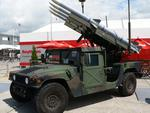 Humvee with missile launcher