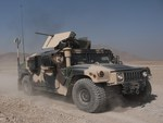 fully battle ready Humvee