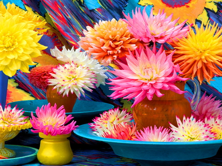 Flowers - colorful, flowers, harmony, colors, nice, summer, beautiful, lovely, pretty
