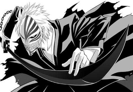 Kurosaki ichigo bleach anime background wallpapers on desktop nexus image 843634 - Ichigo vizard mask ...