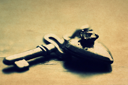Heart key - photography, abstract, key, heart