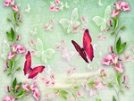 Sweet Peas and Butterflies