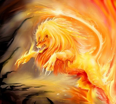 Fire Lion 3d And Cg Abstract Background Wallpapers On Desktop